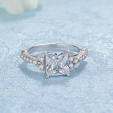 Pentru femei Verighete Zirconiu Cubic Modă Elegant Zirconiu Placat cu platină Rotund Bijuterii Nuntă Logodnă Zilnic Ceremonie