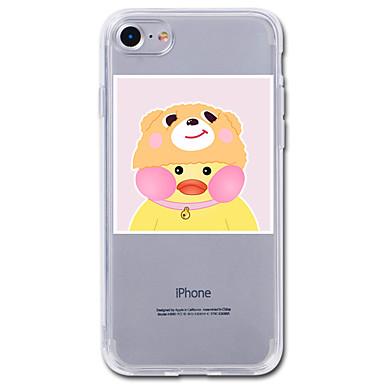 Maska Pentru Apple iPhone 7 Plus iPhone 7 Transparent Model Capac Spate Desene Animate Animal Moale TPU pentru iPhone 7 Plus iPhone 7