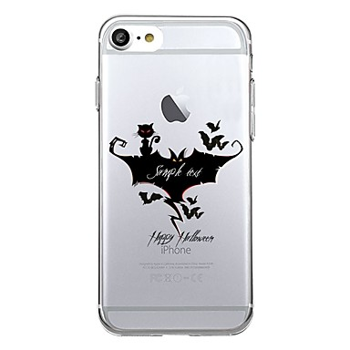 Pentru 7plus telefon caz transparent model de desene animate spate cover case Halloween soft tpu pentru iphone 7 6splus 6plus 6 6s 5 5s se