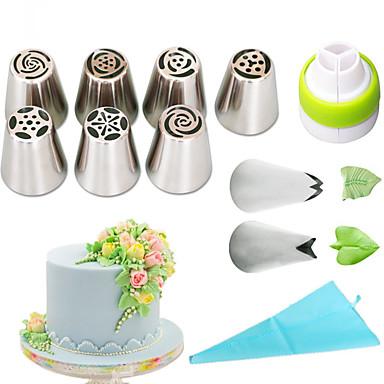 כלי Bakeware פלדת אל חלד + ABS דרגה A ידידותי לסביבה שימוש יומיומי עוגות Moulds 1set