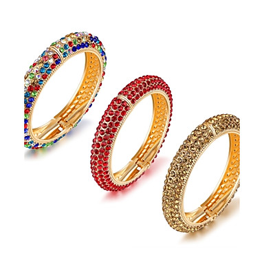 Pentru femei Brățări Bantă Zirconiu Cubic Design Basic La modă Adorabil bijuterii de lux Zirconiu Placat Auriu Placat Cu Aur Roz Circle