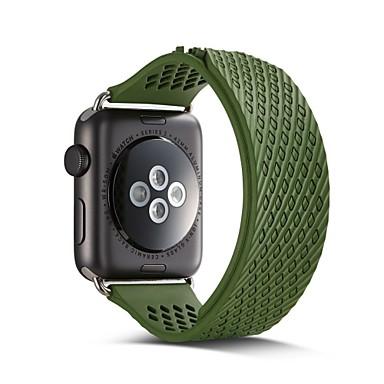 Недорогие Ремешки для Apple Watch-Ремешок для часов для Apple Watch Series 3 / 2 / 1 Apple Спортивный ремешок силиконовый Повязка на запястье