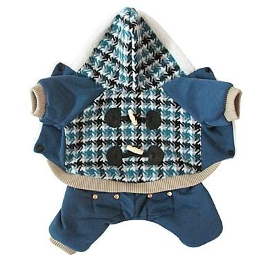 Hond kostuums Hondenkleding Cosplay Geruit Rood Blauw
