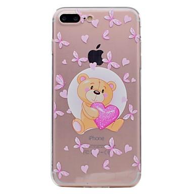 Pentru Apple iphone 7 7plus telefon caz tpu material fluture urs model pictat telefon caz 6s plus 6plus 6s 6 se 5s 5