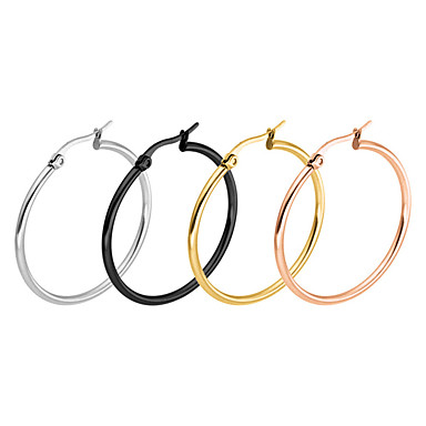 Pentru femei Cercei Set Bijuterii Design Circular Oțel inoxidabil Round Shape Bijuterii Pentru Petrecere Birou / Carieră Casul/Zilnic
