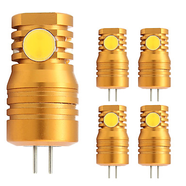 2W G4 Becuri LED Bi-pin T 4 led-uri COB Alb Cald 180lm 2800-3500;5000-6500