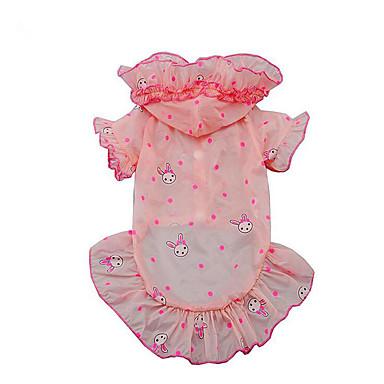 Hund Kapuzenshirts Hundekleidung Hase/Kaninchen Weiß Rosa Acrylfasern Kostüm Für Haustiere Herrn Damen Lässig/Alltäglich