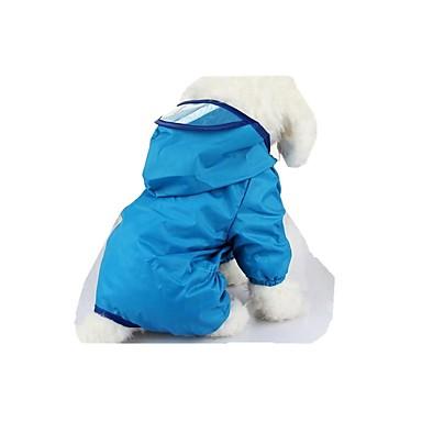 Hund Regenmantel Hundekleidung Lässig/Alltäglich Solide Gelb Rot Blau Rosa Leicht Grün Kostüm Für Haustiere