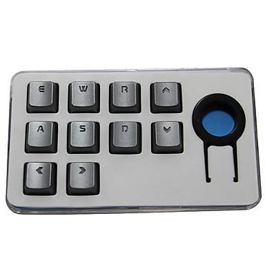 Sangee keycap transparent Zeichen 10 Tasten Keycap Set für mechanische Tastatur Silber