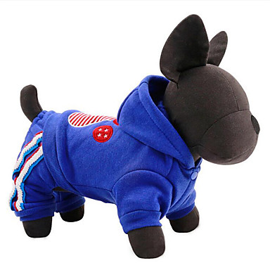 Hond Jumpsuits Hondenkleding Casual/Dagelijks American / USA Rood Blauw Kostuum Voor huisdieren