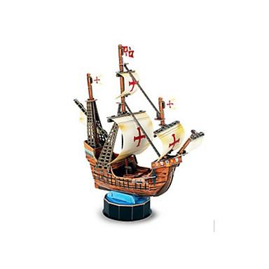 قطع تركيب3D تركيب نموذج الورق سفينة سفينة القراصنة 3D مواد تأثيث اصنع بنفسك EPS+EPU قرصان للأطفال للجنسين هدية
