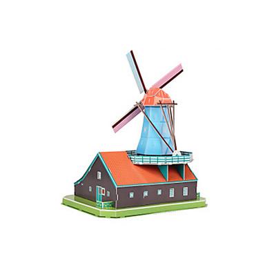 بانوراما الألغاز قطع تركيب3D اللبنات DIY اللعب طاحونة هوائية بناء مشهور EPS+EPU