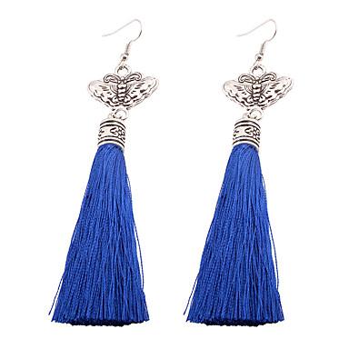 Pentru femei Cercei Picătură Bijuterii Personalizat Ciucure Boem Modă Aliaj neregulat Bijuterii Rosu Albastru Nuntă Petrecere Cadou