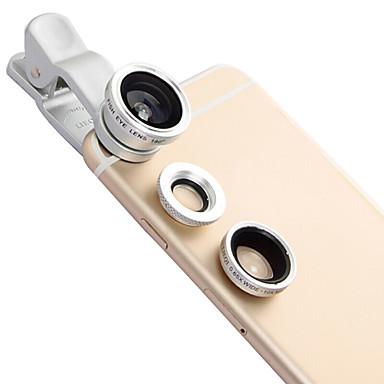 Lieqi lq-601 Telefonobjektiv Fischaugenobjektiv Weitwinkelobjektiv Makroobjektiv Aluminium 10x Handykameraobjektivinstallationssatz für