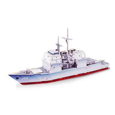 3D-puzzels Legpuzzel Houten modellen Modelbouwsets Oorlogsschip Schip 3D DHZ Puinen Hout Klassiek Unisex Geschenk