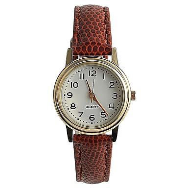 Pentru femei Ceas La Modă Ceas de Mână Japoneză Quartz / PU Bandă Casual Elegant Maro