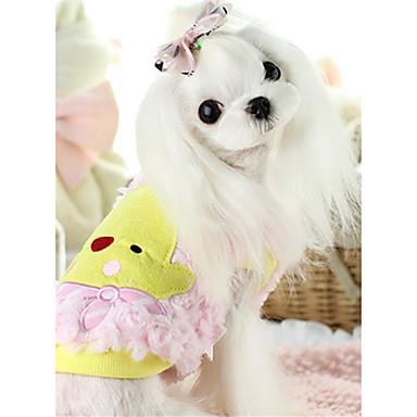 كلب سترة ملابس الكلاب كاجوال/يومي كرتون البيج زهري
