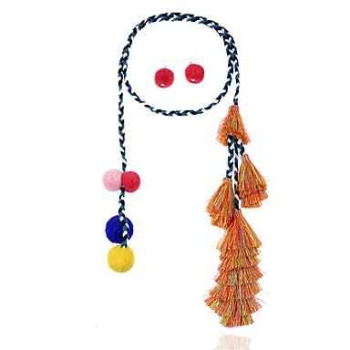 Pentru femei Bikini Set bijuterii - Inimă / Deschis / Declarație Circle Shape Curcubeu Cercei Stud / Coliere cu Pandativ Pentru Petrecere