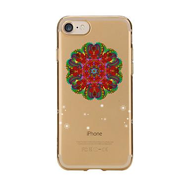 غطاء من أجل Apple iPhone 7 Plus iPhone 7 شفاف نموذج غطاء خلفي ماندالا نمط ناعم TPU إلى iPhone 7 Plus iPhone 7 iPhone 6s Plus ايفون 6s