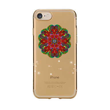 Maska Pentru Apple iPhone 7 Plus iPhone 7 Transparent Model Capac Spate Mandala Moale TPU pentru iPhone 7 Plus iPhone 7 iPhone 6s Plus