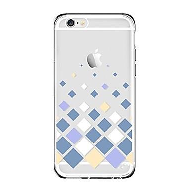 Maska Pentru Apple iPhone 7 Plus iPhone 7 Transparent Model Capac Spate Model Geometric Moale TPU pentru iPhone 7 Plus iPhone 7 iPhone 6s
