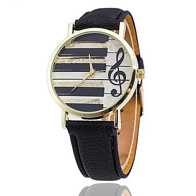Homens Quartzo Relógio de Pulso Chinês Relógio Casual PU Banda Casual Relógio Criativo Único Relógio Elegante Elegant Fashion Preta Branco
