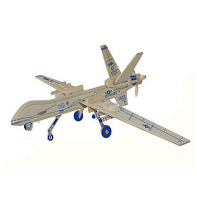 3D - Puzzle Holzpuzzle Holzmodelle Panzer Flugzeug Kämpfer Holz Naturholz Kinder Unisex Geschenk