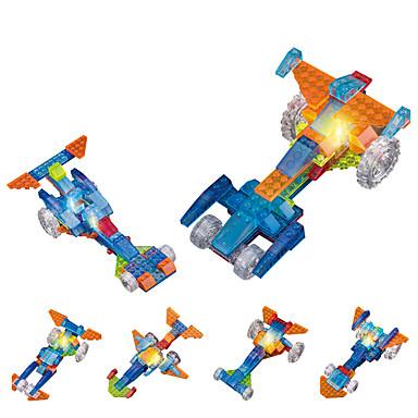 DOUZHI لعبة سيارات / إضاءةLED / أحجار البناء 91pcs بدعة / سيارة سباق اصنع بنفسك / خلاق سيارة سباق للجنسين هدية
