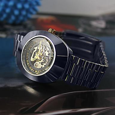Bărbați Pentru femei Ceas La Modă ceas mecanic Mecanism automat Aliaj Bandă Argint