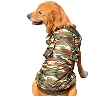 Câine Haine Γιλέκο Îmbrăcăminte Câini Petrecere Casul/Zilnic Keep Warm Sport Polițist/Militar Culoare Camuflaj