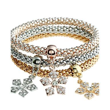 Pentru femei Brățări Bangle Diamant sintetic Natură Bohemia Stil Personalizat Confecționat Manual Metalic Ștras Circle Shape Bijuterii