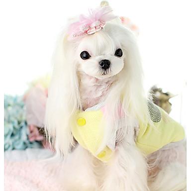 Câine Γιλέκο Îmbrăcăminte Câini Cald Casul/Zilnic Desene Animate Bej Galben Costume Pentru animale de companie