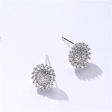 Pentru femei Cercei Stud Zirconiu Cubic stil minimalist Modă Aliaj Geometric Shape Bijuterii Pentru Nuntă Alte Zilnic Casual Oficial