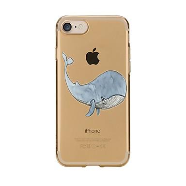 Maska Pentru Apple iPhone 7 Plus iPhone 7 Transparent Model Capac Spate Animal Moale TPU pentru iPhone 7 Plus iPhone 7 iPhone 6s Plus