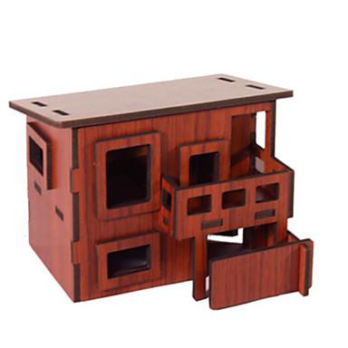 Puzzle 3D Puzzle Jucarii Arhitectură 3D Reparații Lemn natural Unisex Bucăți