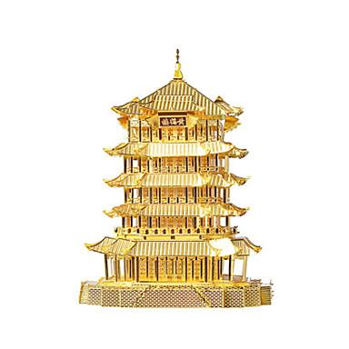 Holzpuzzle Metallpuzzle Spielzeuge Chinesische Architektur 3D Heimwerken Aleación keine Angaben Stücke