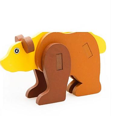 قطع تركيب3D تركيب حيوان 3D خشب الخشب الطبيعي صبيان للجنسين هدية