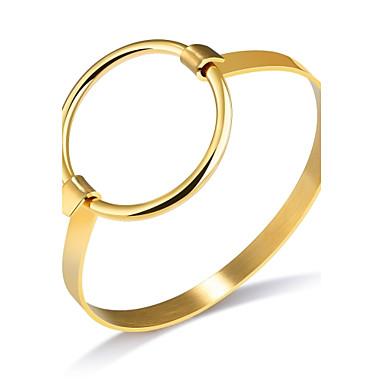 Pentru femei Brățări Bangle Zirconiu Cubic Design Basic La modă Adorabil bijuterii de lux FranjuriZirconiu Cubic Oțel titan Placat Cu Aur
