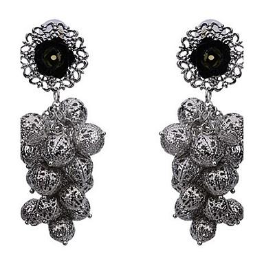 Damen Tropfen-Ohrringe Modisch Vintage individualisiert überdimensional Aleación Blumenform Kugel Schmuck Für Party Bühne Formal