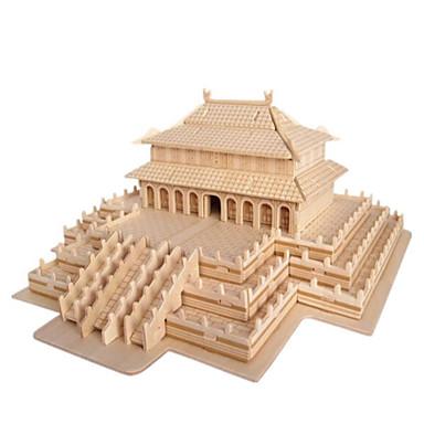 3D-puzzels Legpuzzel Speeltjes Beroemd gebouw Huis Architectuur 3D Hout Natuurlijk Hout Unisex Jongens Stuks
