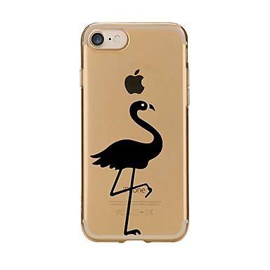 Caz pentru iphone 7 6 flamingo tpu soft ultra-subțire capacul capacului spate acoperă iphone 7 plus 6 6s plus se 5s 5 5c 4s 4