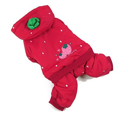 Câine Costume Îmbrăcăminte Câini Floral / Botanic Rosu Bumbac Costume Pentru animale de companie Bărbați Pentru femei Cosplay