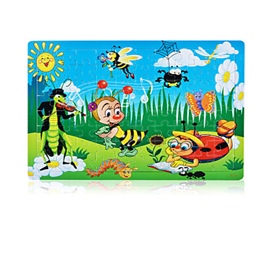Holzpuzzle Rabbit Anderen Sonne Blume Hölzern Unisex Geschenk
