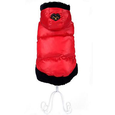 Hund Mäntel Kapuzenshirts Hundekleidung Warm Atmungsaktiv Lässig/Alltäglich Herz Grau Purpur Rot Kostüm Für Haustiere