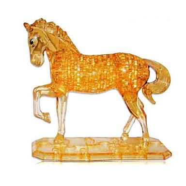 قطع تركيب3D تركيب تركيب كريستال كلاب برج حصان دب البلاستيك الحديد للجنسين هدية