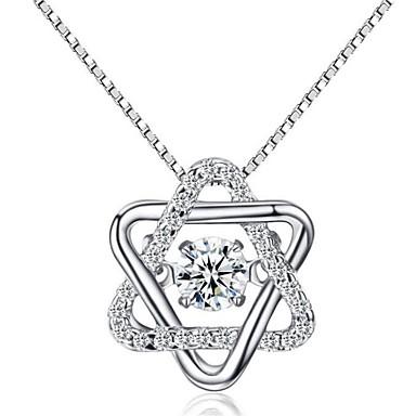 Dames Kubieke Zirkonia Kraag - Sterling zilver Gepersonaliseerde, Modieus Zilver Kettingen Voor Bruiloft, Lahja, Dagelijks