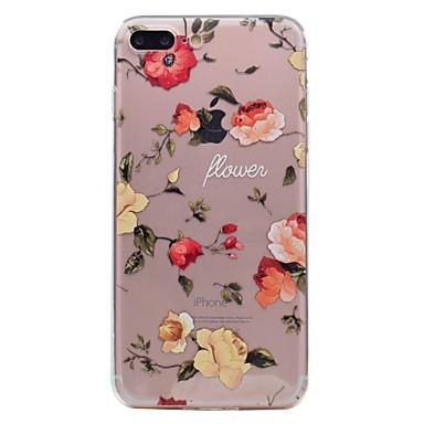 iPhone iPhone Per Fantasia 7 Plus 06110314 TPU per Per Plus retro iPhone 7 Morbido Transparente Custodia disegno 7 iPhone decorativo Apple Fiore 7 T1qdqAxR