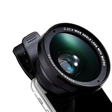 Kyotsu Telefonobjektiv Weitwinkelobjektiv Makroobjektiv Aluminium 15x 52mm Handykameraobjektivinstallationssatz für Samsung android