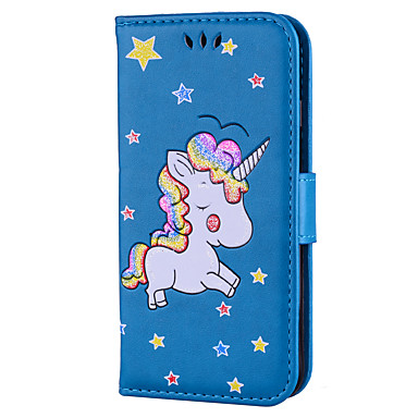 credito di Resistente chiusura 8 Unicorno carte Custodia Plus Apple iPhone 06135260 Fantasia magnetica Con iPhone Porta Integrale disegno Per 8 77vUfz