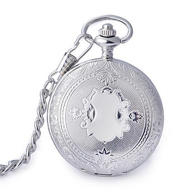 Bărbați Ceas de buzunar Quartz Rezistent la Apă Aliaj Bandă Argint